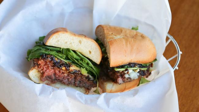 Picture of the award-winning Father's Office burger headed to downtown Los Angeles
